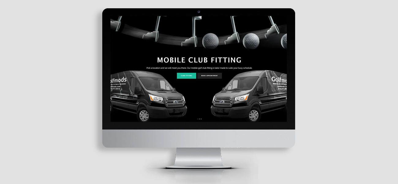 golfmods website design